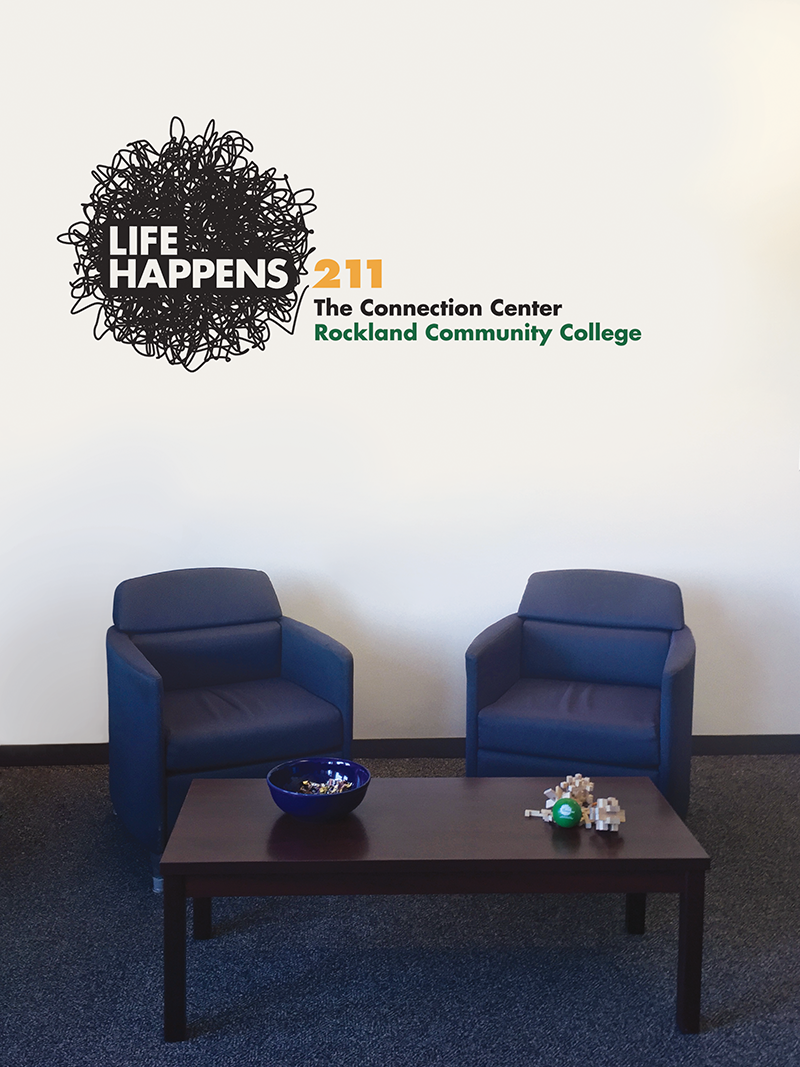 RCC Life Happens, The Connection Center Decal